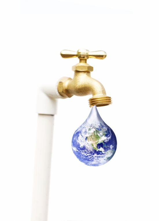 Water Faucet with Earth