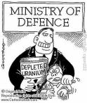 cartoon of depleted uranium madness