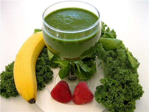 green_banana_fruit_strawberry_smoothie