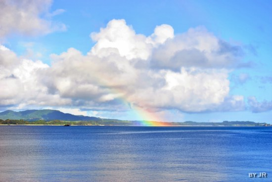 rainbow ocean island photo