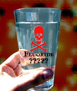 fluoride water in glass